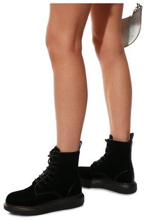 Женские текстильные ботинки ALEXANDER MCQUEEN черного цвета, арт. 586395/W4IKX | Фото 3
