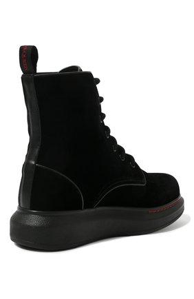 Женские текстильные ботинки ALEXANDER MCQUEEN черного цвета, арт. 586395/W4IKX | Фото 5