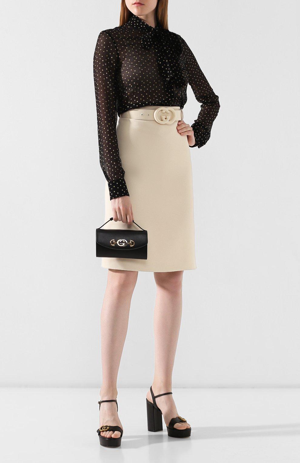 Женская сумка gucci zumi mini GUCCI черного цвета, арт. 564718/05J0X | Фото 2