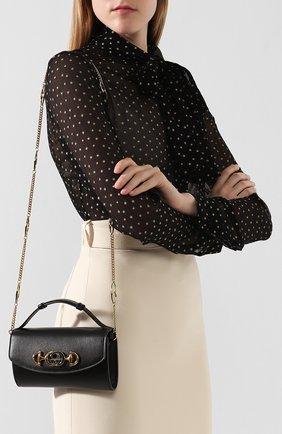 Женская сумка gucci zumi mini GUCCI черного цвета, арт. 564718/05J0X | Фото 5