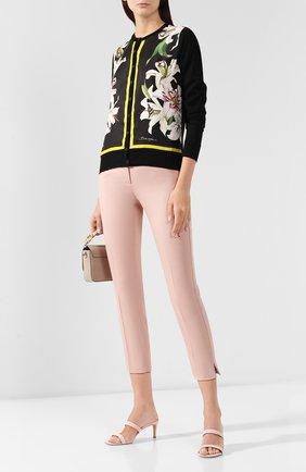 Женские хлопковые брюки DOLCE & GABBANA светло-розового цвета, арт. FTAGNT/FUFGD | Фото 2