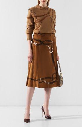 Женская замшевая юбка RALPH LAUREN коричневого цвета, арт. 290759574 | Фото 2