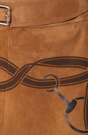 Женская замшевая юбка RALPH LAUREN коричневого цвета, арт. 290759574 | Фото 5