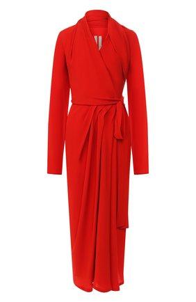 Женское платье-миди RICK OWENS красного цвета, арт. RP19F5554/CC   Фото 1