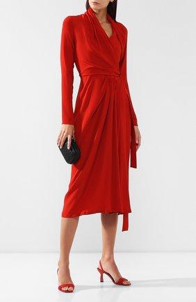 Женское платье-миди RICK OWENS красного цвета, арт. RP19F5554/CC   Фото 2