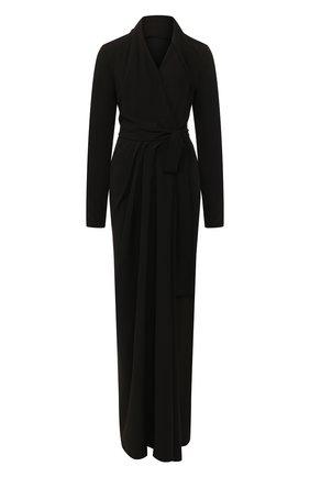 Женское платье-макси RICK OWENS черного цвета, арт. RP19F5500/CC   Фото 1