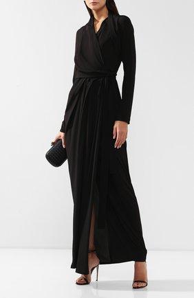 Женское платье-макси RICK OWENS черного цвета, арт. RP19F5500/CC   Фото 2