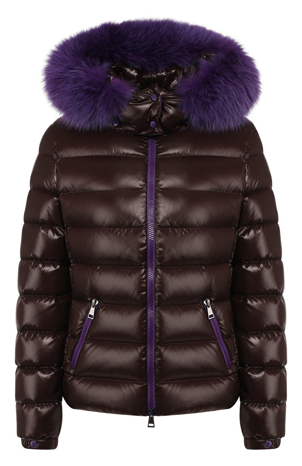 Женский пуховая куртка badyfur MONCLER коричневого цвета, арт. E2-093-46314-25-C0061   Фото 1
