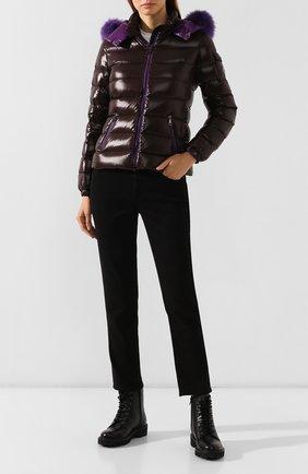 Женский пуховая куртка badyfur MONCLER коричневого цвета, арт. E2-093-46314-25-C0061   Фото 2