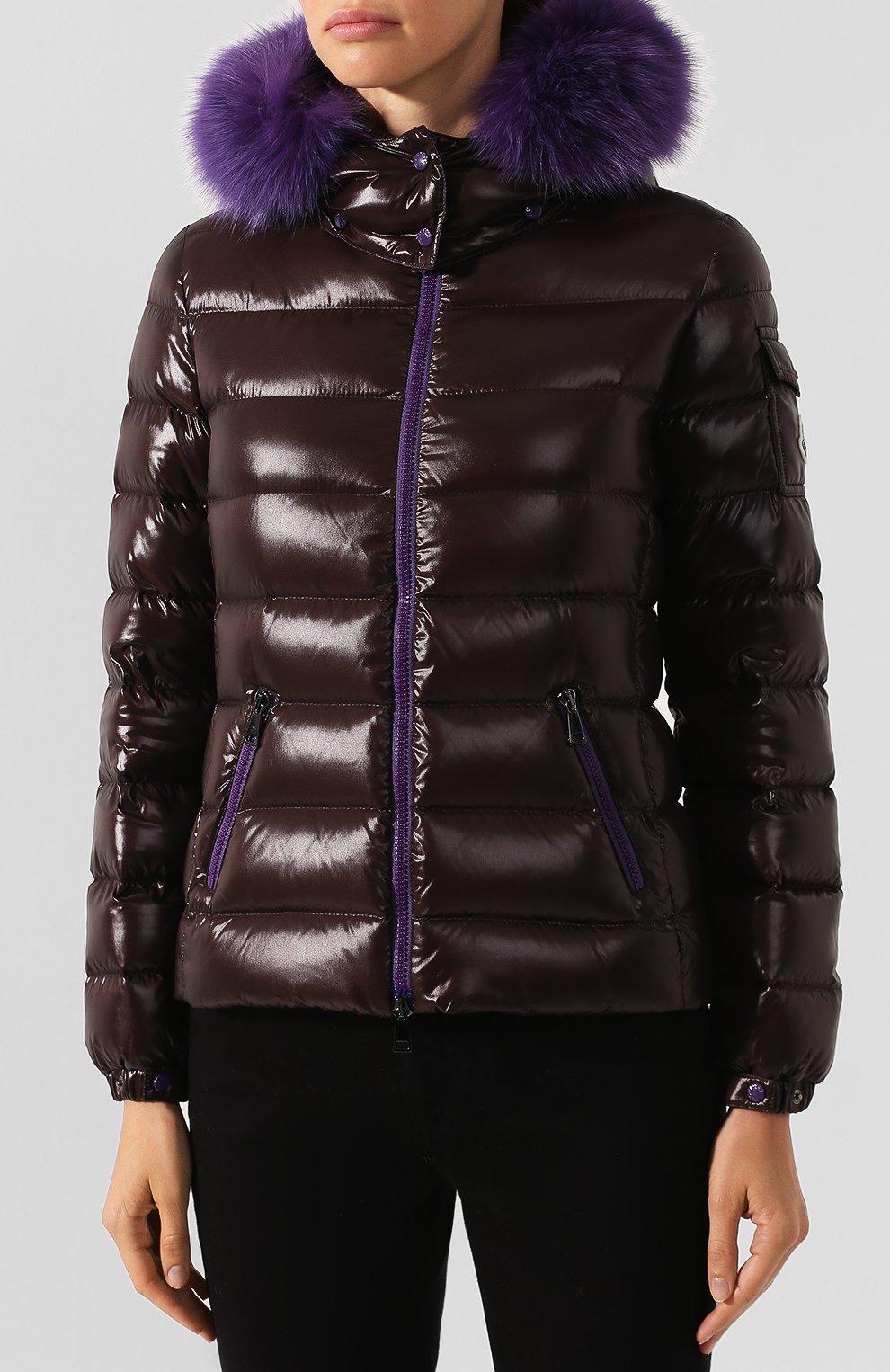 Женский пуховая куртка badyfur MONCLER коричневого цвета, арт. E2-093-46314-25-C0061   Фото 3