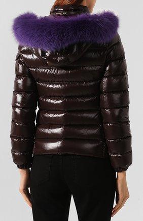 Женский пуховая куртка badyfur MONCLER коричневого цвета, арт. E2-093-46314-25-C0061   Фото 4
