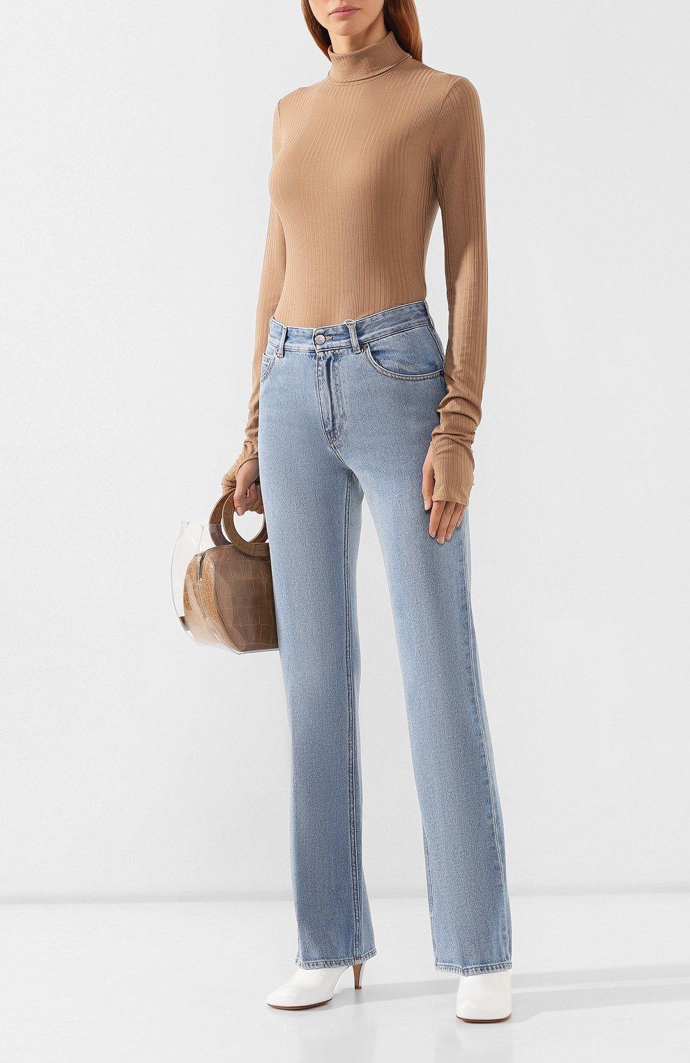 Женские джинсы MM6 голубого цвета, арт. S52LA0095/S30460   Фото 2