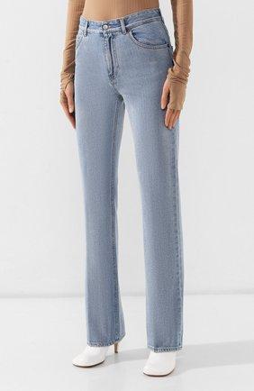 Женские джинсы MM6 голубого цвета, арт. S52LA0095/S30460   Фото 3