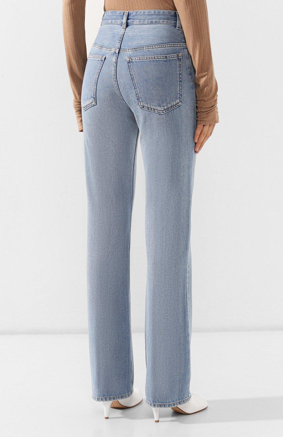 Женские джинсы MM6 голубого цвета, арт. S52LA0095/S30460   Фото 4
