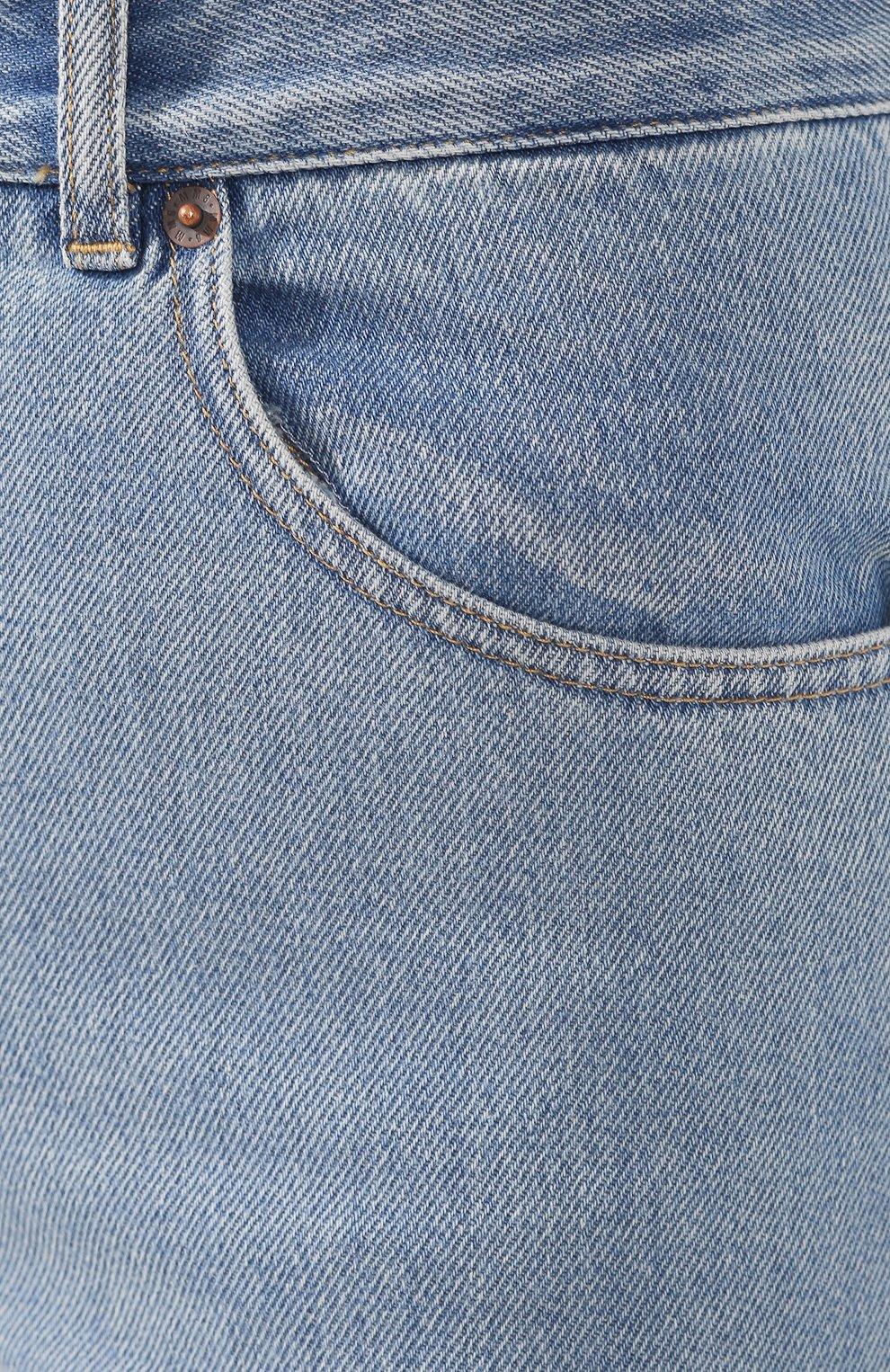 Женские джинсы MM6 голубого цвета, арт. S52LA0095/S30460   Фото 5