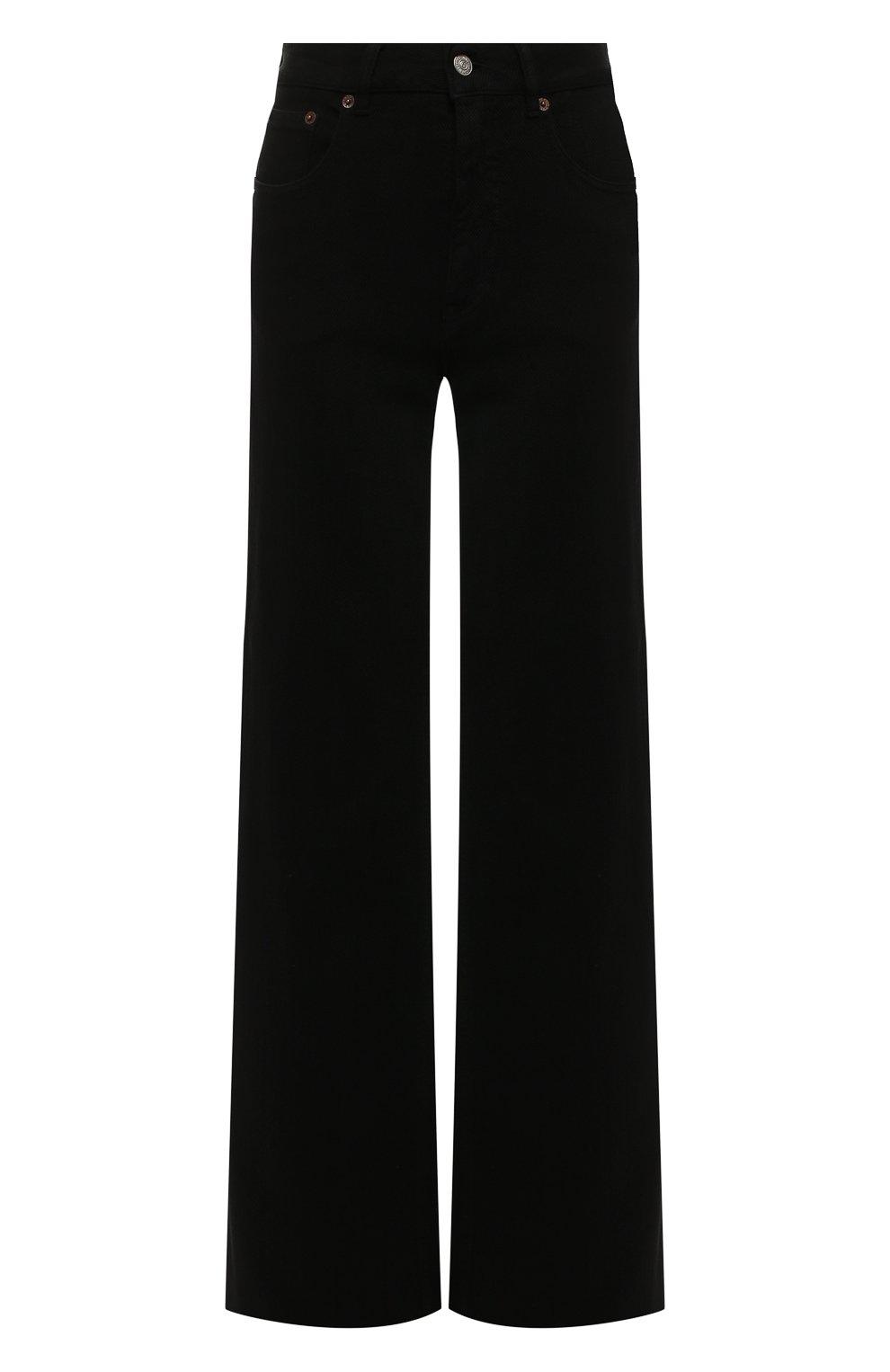 Женские джинсы MM6 черного цвета, арт. S52LA0094/S30660 | Фото 1