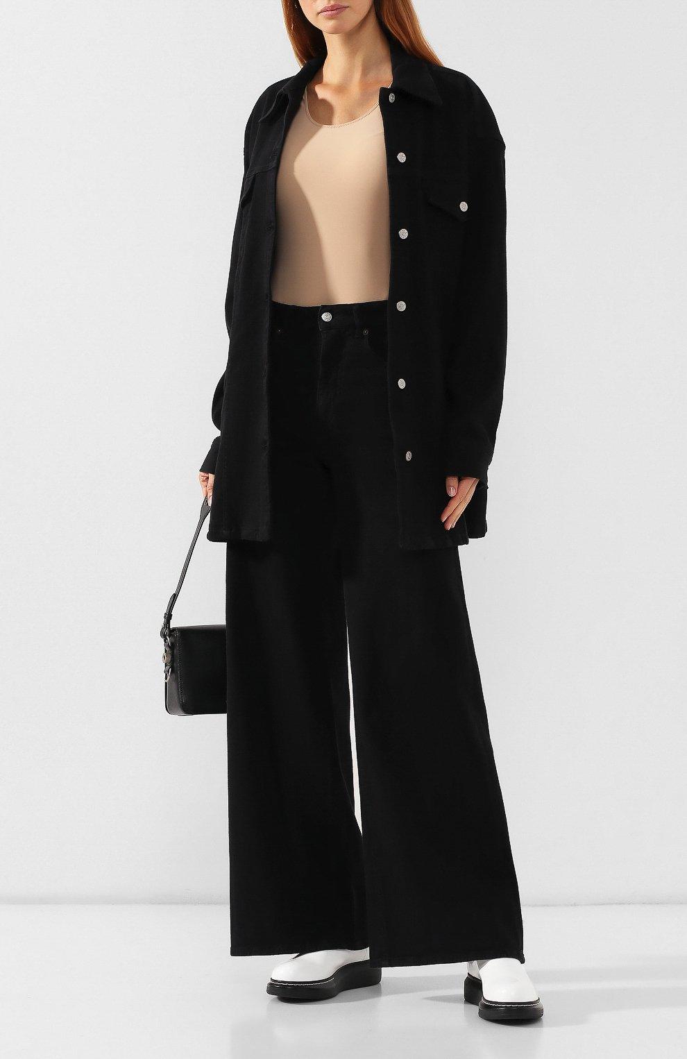 Женские джинсы MM6 черного цвета, арт. S52LA0094/S30660 | Фото 2