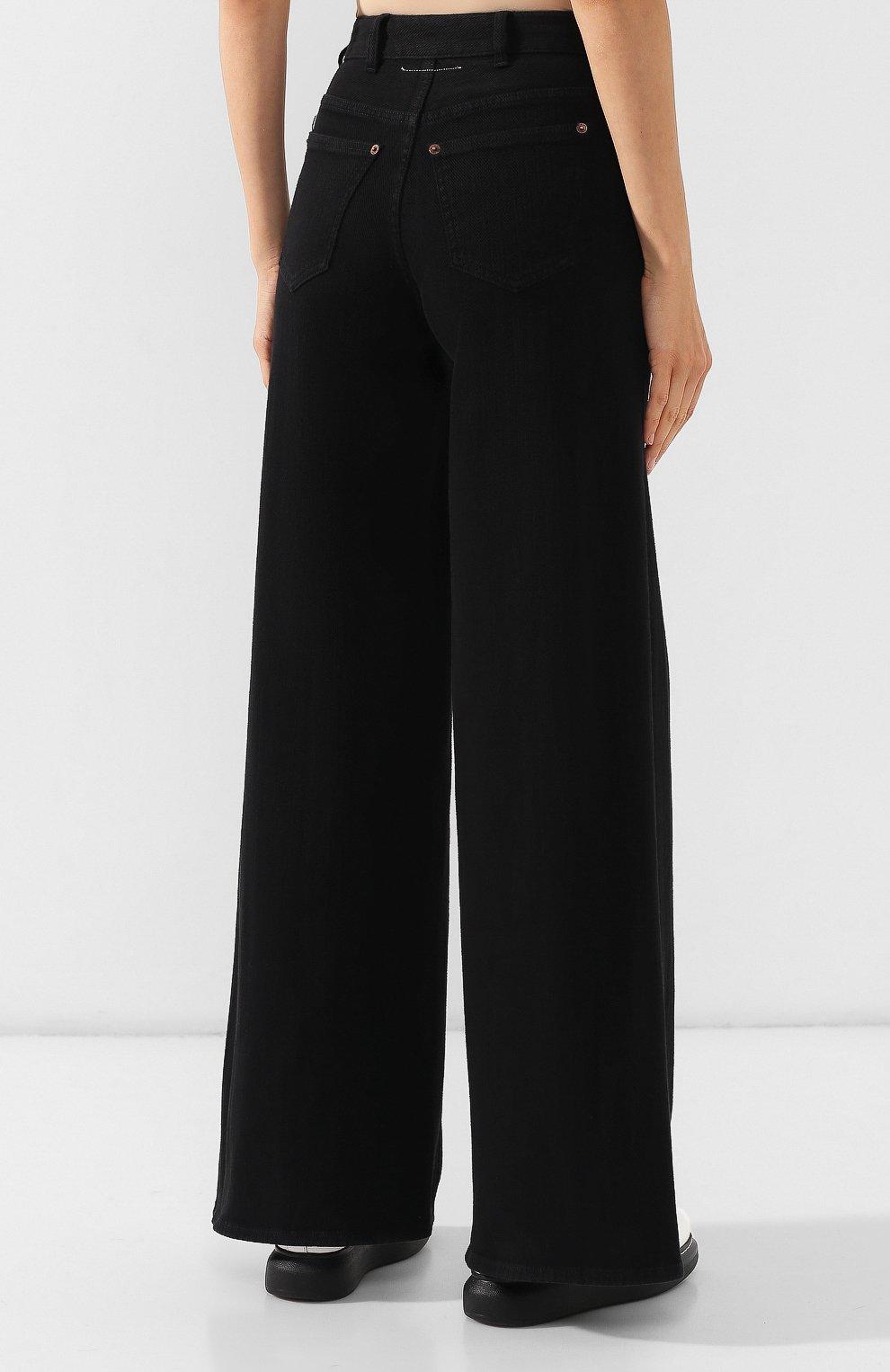 Женские джинсы MM6 черного цвета, арт. S52LA0094/S30660 | Фото 4