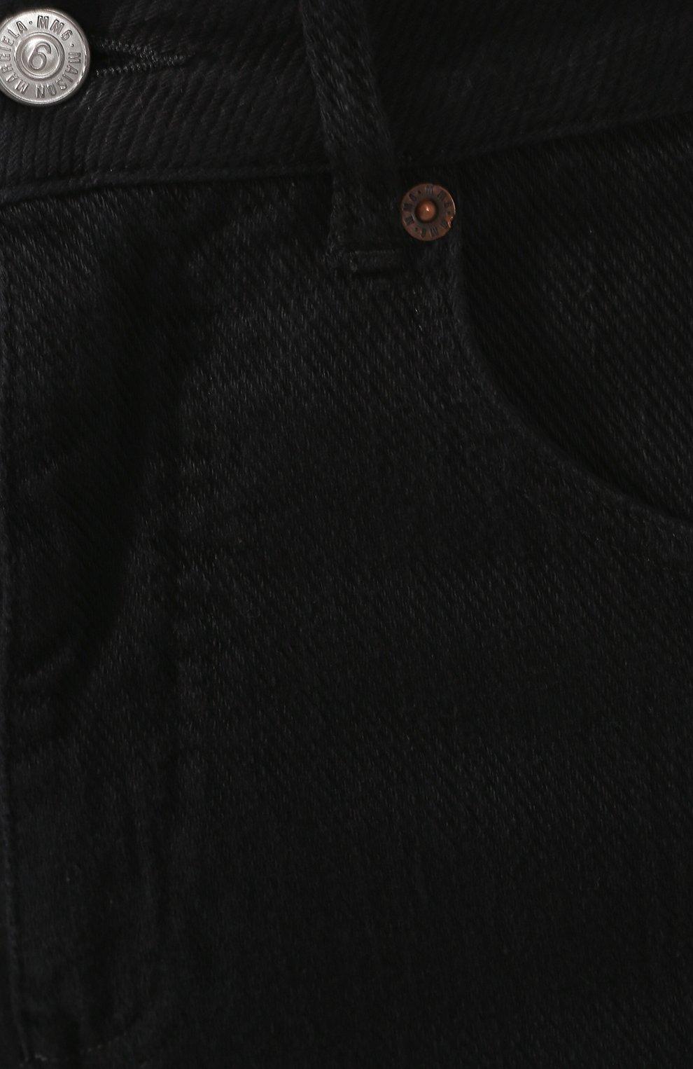 Женские джинсы MM6 черного цвета, арт. S52LA0094/S30660 | Фото 5