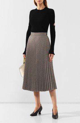 Женский пуловер с разрезами MM6 черного цвета, арт. S52HA0149/S16773 | Фото 2