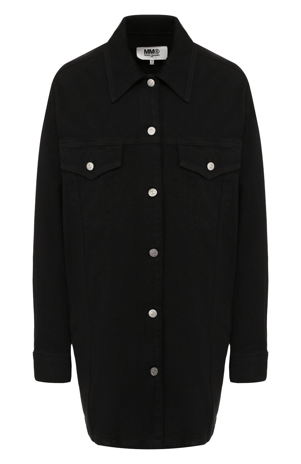 Женская джинсовая куртка MM6 черного цвета, арт. S52AM0111/S30660 | Фото 1