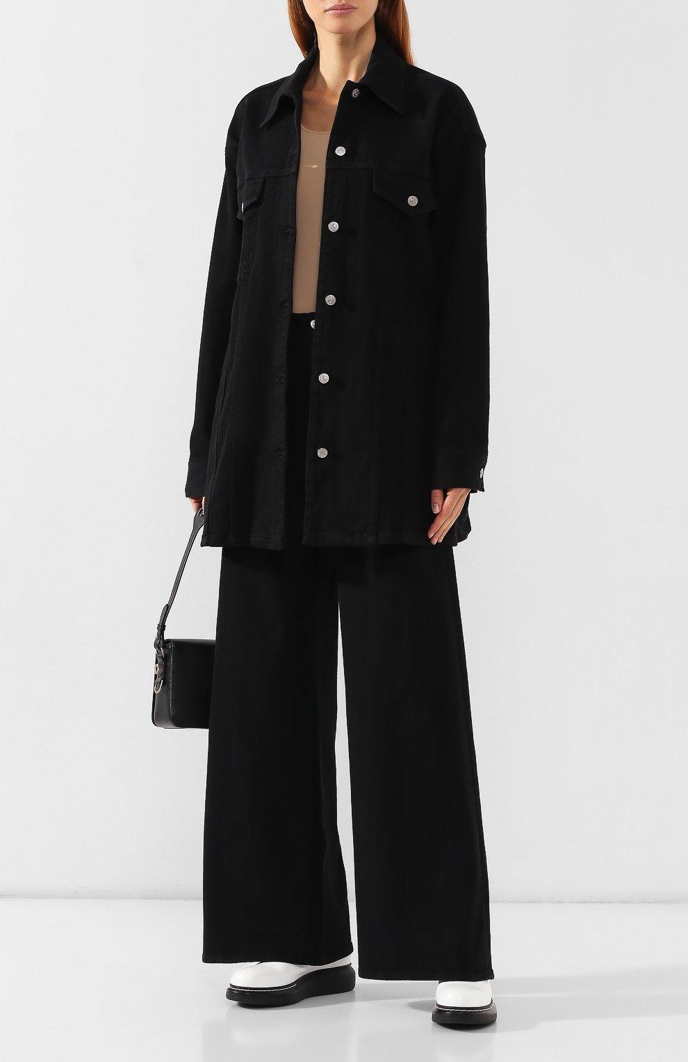 Женская джинсовая куртка MM6 черного цвета, арт. S52AM0111/S30660 | Фото 2