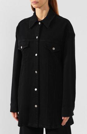 Женская джинсовая куртка MM6 черного цвета, арт. S52AM0111/S30660 | Фото 3