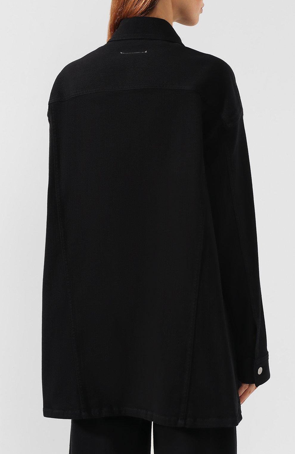 Женская джинсовая куртка MM6 черного цвета, арт. S52AM0111/S30660 | Фото 4