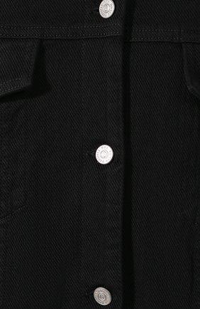 Женская джинсовая куртка MM6 черного цвета, арт. S52AM0111/S30660 | Фото 5