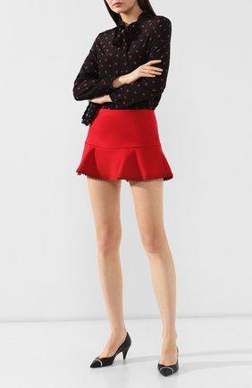 Женские юбка-шорты REDVALENTINO красного цвета, арт. SR3RFB75/1Y1 | Фото 2
