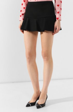 Женские юбка-шорты REDVALENTINO черного цвета, арт. SR3RFB75/1Y1 | Фото 3