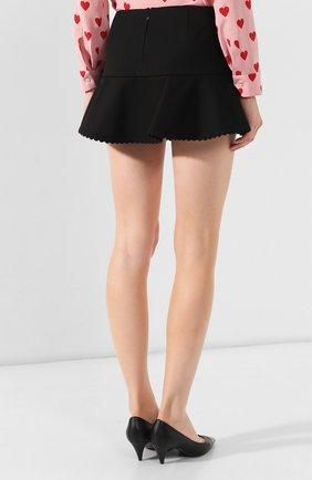 Женские юбка-шорты REDVALENTINO черного цвета, арт. SR3RFB75/1Y1 | Фото 4