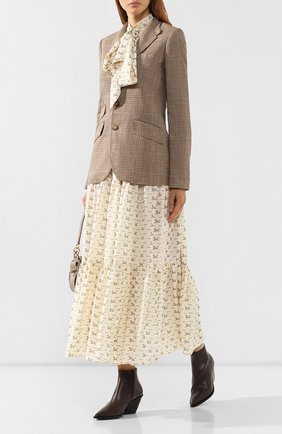 Женский жакет из смеси льна и шелка POLO RALPH LAUREN коричневого цвета, арт. 211758516 | Фото 2