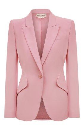 Женский жакет ALEXANDER MCQUEEN розового цвета, арт. 585442/QEAAA | Фото 1
