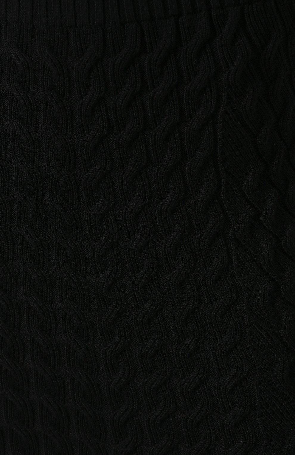 Женская шерстяная юбка ALEXANDER MCQUEEN черного цвета, арт. 585181/Q1AB2 | Фото 5