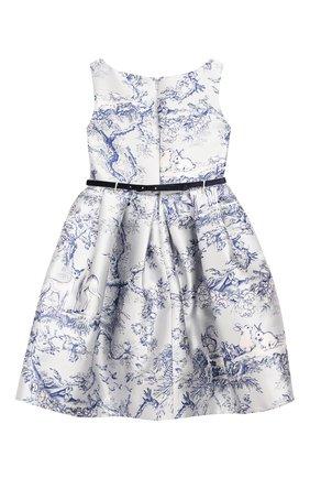 Детское платье MONNALISA голубого цвета, арт. 714911 | Фото 2