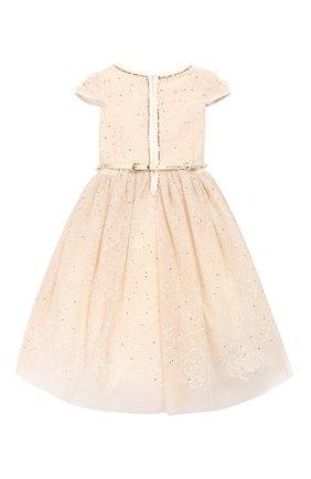 Детское платье MONNALISA золотого цвета, арт. 774901 | Фото 2