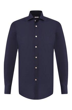 Мужская хлопковая сорочка KITON темно-синего цвета, арт. UCIH0003106 | Фото 1