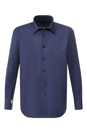 Мужская хлопковая сорочка BILLIONAIRE темно-синего цвета, арт. I19C MRP0909 BTE002N | Фото 1