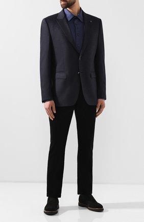 Мужская хлопковая сорочка BILLIONAIRE темно-синего цвета, арт. I19C MRP0909 BTE002N | Фото 2