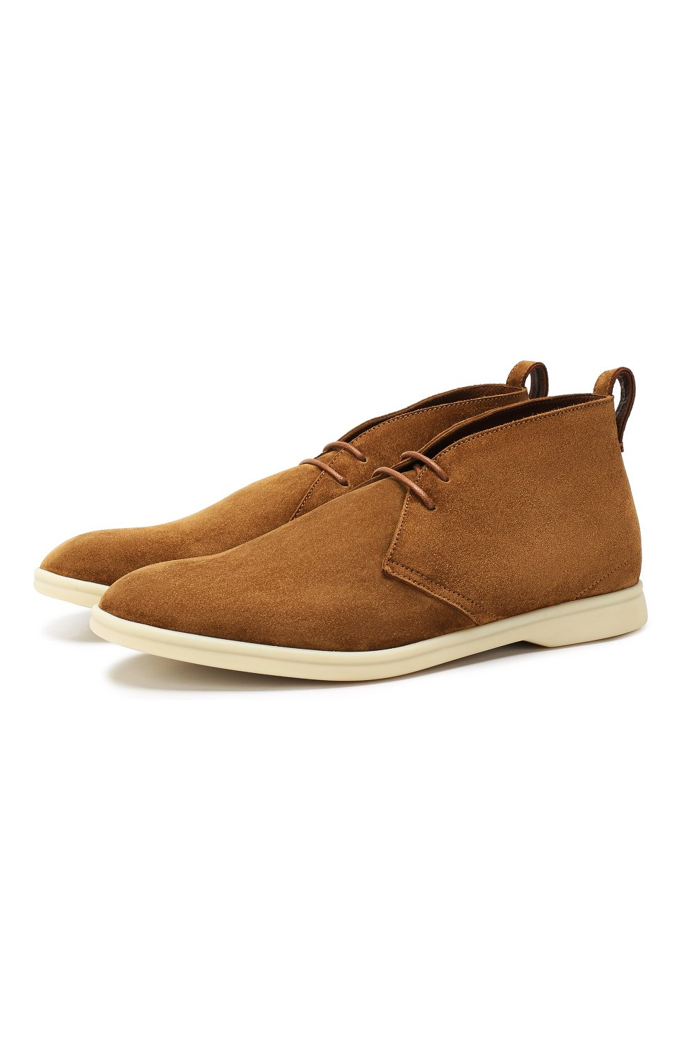 Мужские замшевые ботинки softey walk LORO PIANA светло-коричневого цвета, арт. FAI4940 | Фото 1