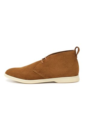 Мужские замшевые ботинки softey walk LORO PIANA светло-коричневого цвета, арт. FAI4940 | Фото 3