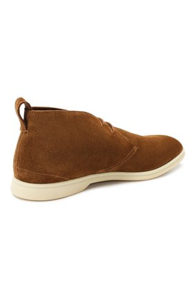 Мужские замшевые ботинки softey walk LORO PIANA светло-коричневого цвета, арт. FAI4940 | Фото 4