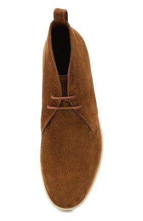 Мужские замшевые ботинки softey walk LORO PIANA светло-коричневого цвета, арт. FAI4940 | Фото 5