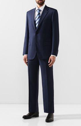 Мужской шерстяной костюм BRIONI синего цвета, арт. RAH00L/08A3A/PARLAMENT0 | Фото 1