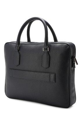 Мужская кожаная сумка для ноутбука CANALI темно-синего цвета, арт. P325341/NA00051 | Фото 3