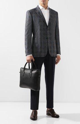 Мужская кожаная сумка для ноутбука CANALI черного цвета, арт. P325341/NA00051 | Фото 2