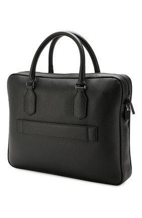Мужская кожаная сумка для ноутбука CANALI черного цвета, арт. P325341/NA00051 | Фото 3
