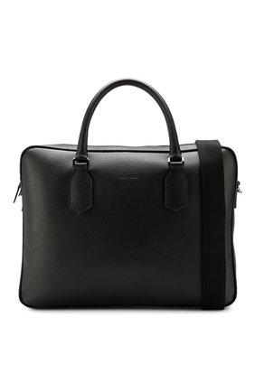 Мужская кожаная сумка для ноутбука CANALI черного цвета, арт. P325341/NA00051 | Фото 6