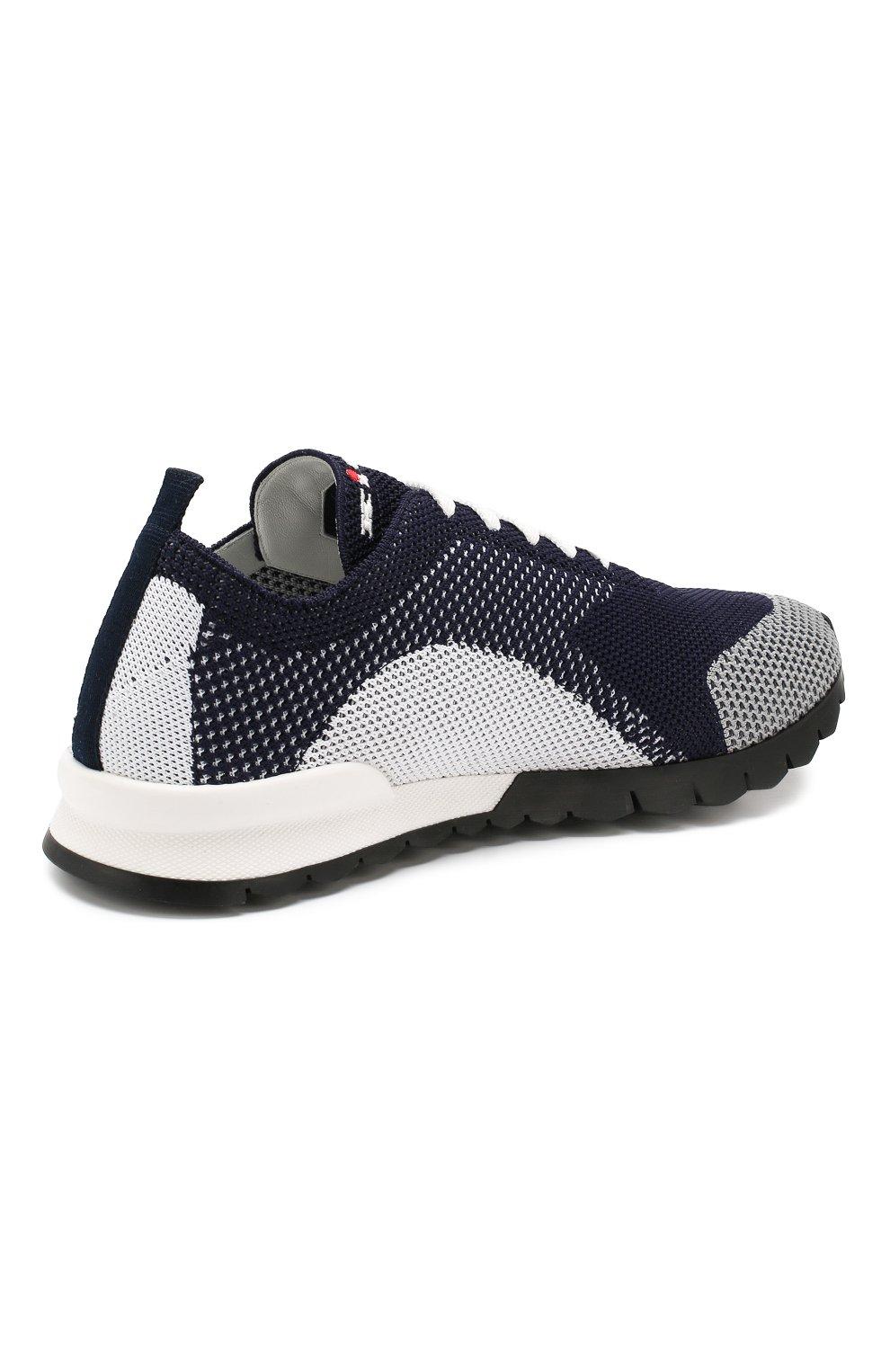 Мужские текстильные кроссовки KITON темно-синего цвета, арт. USSFITN00609040 | Фото 4